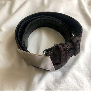 Vintage Fendi logo belt